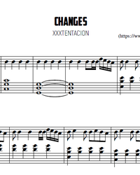 Sheet music and midi files for piano. Changes.