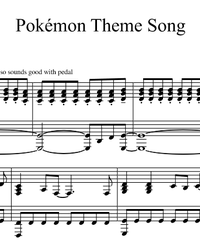 Ноты, миди для пианино. Original Pokemon Theme Song.