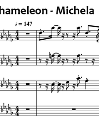 Sheet music and midi files for piano. Chameleon.