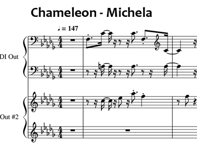 Sheet music and midi files for piano. Chameleon
