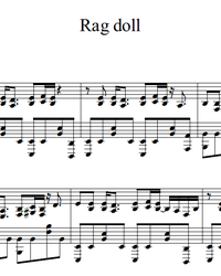 Sheet music and midi files for piano. Rag Doll.