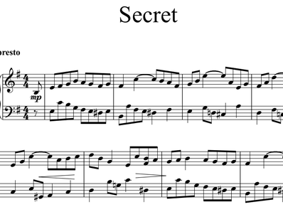 Sheet music and midi files for piano. OST Secret (Bu Neng Shou De Mi Mi)