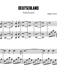 Sheet music and midi files for piano. Deutschland (Germany).