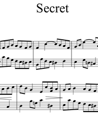 Sheet music and midi files for piano. OST Secret (Bu Neng Shou De Mi Mi).