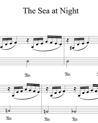 Sheet music and midi files for piano. The Sea at Night.