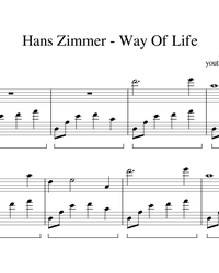 Sheet music and midi files for piano. A Way of Life.