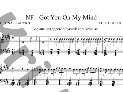 Sheet music and midi files for piano. Got you on my mind