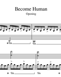 Sheet music and midi files for piano. Detroit: Become Human - Main Theme.