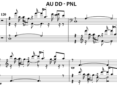 Sheet music and midi files for piano. Au DD