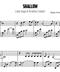 Sheet music and midi files for piano. Shallow.