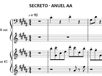 Sheet music and midi files for piano. Secret (Secreto)