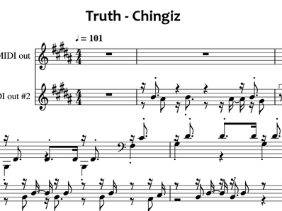 Sheet music and midi files for piano. Truth