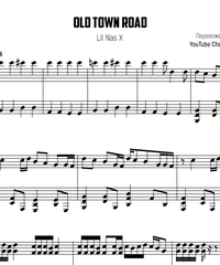 Sheet music and midi files for piano. Old Town Road.
