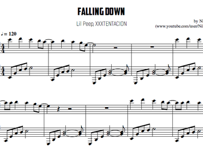 Sheet music and midi files for piano. Falling Dawn