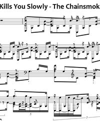 Sheet music and midi files for piano. Kills You Slowly.