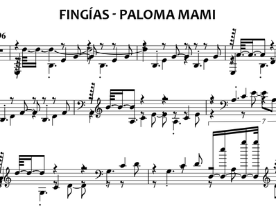 Sheet music and midi files for piano. Fake (Fingías)