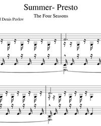 Sheet music and midi files for piano. Summer Presto - Storm (The Four Seasons).