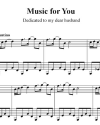 Sheet music and midi files for piano. Music of Love.