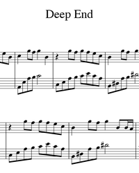 Sheet music and midi files for piano. Deep End.