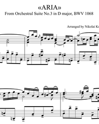 Sheet music and midi files for piano. Air (Orchestra Suite No. 3 in D Major).