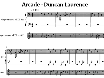 Sheet music and midi files for piano. Arcade