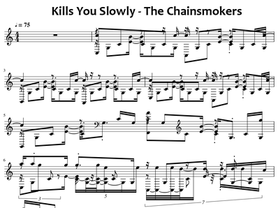 Noten, MIDI für Klavier. Kills You Slowly