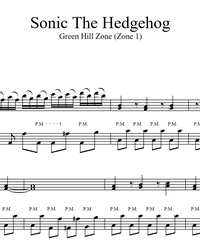 Sheet music and midi files for piano. Green Hill Zone (Sonic the Hedgehog).