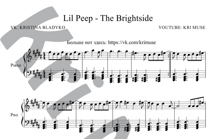 The Brightside For Piano. Sheet Music And Midi Files For